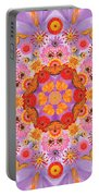 Zinna Flower Mandala Portable Battery Charger