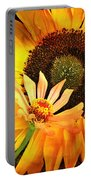 Zinnia And Sunflower Portable Battery Charger