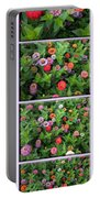 Zinnias 4 Panel Vertical Composite Portable Battery Charger