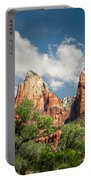 Zion Court Of The Patriarchs Portable Battery Charger by Tammy Wetzel