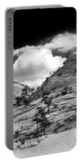 Zion National Park In Black And White Portable Battery Charger