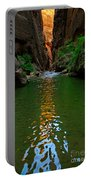 Zion Reflections - The Narrows At Zion National Park. Portable Battery Charger