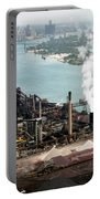 Zug Island Industrial Area Of Detroit Portable Battery Charger