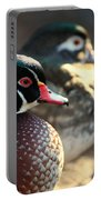 A Couple Of Wood Ducks Portable Battery Charger