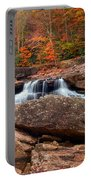 Autumn Leaves At The Mill Portable Battery Charger