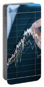 Businessman Writing Graph Of Stock Market  Portable Battery Charger by Setsiri Silapasuwanchai