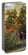 Corner Of A Roman Garden Portable Battery Charger by Sir Lawrence Alma-Tadema