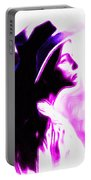 Lady With Hat Portable Battery Charger