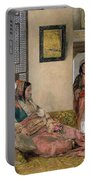 Life In The Harem - Cairo Portable Battery Charger by John Frederick Lewis
