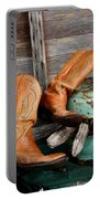 Old Cowboy Boots Portable Battery Charger