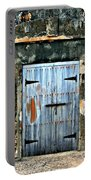 Old Wooden Doors Portable Battery Charger