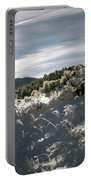 Sunrise On Frosted Hill Portable Battery Charger