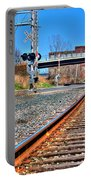 0001 Train Tracks Portable Battery Charger
