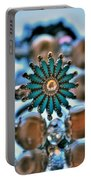 0001 Turquoise And Pearls Portable Battery Charger