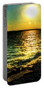0001 Windy Waves Sunset Rays Portable Battery Charger