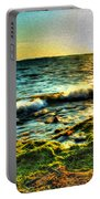 00015 Windy Waves Sunset Rays Portable Battery Charger