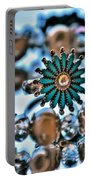 0003 Turquoise And Pearls Portable Battery Charger