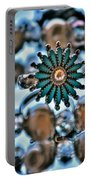 0004 Turquoise And Pearls Portable Battery Charger