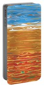0145 Abstract Landscape Portable Battery Charger