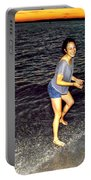 017 A Sunset With Eyes That Smile Soothing Sounds Of Waves For Miles Portrait Series Portable Battery Charger