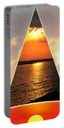 0a Relaxing Sunsets Collage Portable Battery Charger