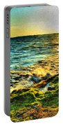 00013 Windy Waves Sunset Rays Portable Battery Charger