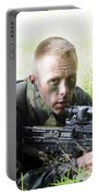 A British Soldier Armed With A Sa80 Portable Battery Charger