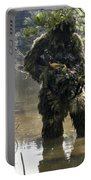 A Sniper Dressed In A Ghillie Suit Portable Battery Charger