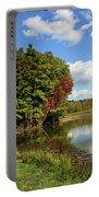 A Touch Of Autumn Portable Battery Charger by Kristin Elmquist