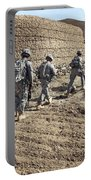 Afghan National Army And U.s. Soldiers Portable Battery Charger