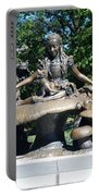 Alice In Wonderland In Central Park Portable Battery Charger
