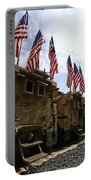 American Flags Are Displayed Portable Battery Charger