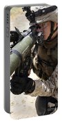 An Assaultman Handles Portable Battery Charger