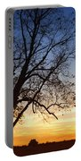Bare Tree At Sunset Portable Battery Charger