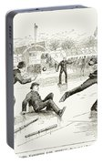 Baseball On Ice, 1884 Portable Battery Charger