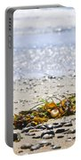 Beach Detail On Pacific Ocean Coast Portable Battery Charger