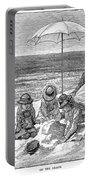 Beach Scene, 1879 Portable Battery Charger