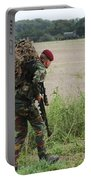 Belgian Paratroopers Red Berets Portable Battery Charger by Luc De Jaeger