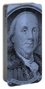 Ben Franklin In Cyan Portable Battery Charger