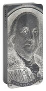 Ben Franklin In Negative Portable Battery Charger