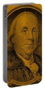 Ben Franklin In Orange Portable Battery Charger