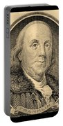 Ben Franklin In Sepia Portable Battery Charger