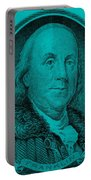 Ben Franklin In Turquois Portable Battery Charger