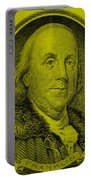 Ben Franklin In Yellow Portable Battery Charger