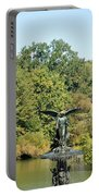 Birdbath Of Central Park Portable Battery Charger