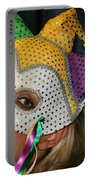 Blond Woman With Mask Portable Battery Charger by Henrik Lehnerer