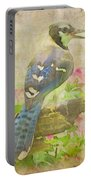 Blue Jay With Texture II Portable Battery Charger