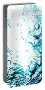 Blue White Water Bubbles In A Pool  Portable Battery Charger