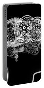 Brain Design By Cogs And Gears Portable Battery Charger