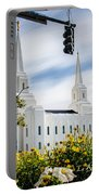 Brigham City Temple Street Lights Portable Battery Charger